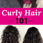 "photo collage of two smiling women with glossy, full, and well-defined curls. Text overlay says: ""Curly Hair 101 (styling tips, porosity & more!)"""