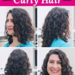 "photo collage of a smiling woman with glossy, full, and well-defined curls. Text overlay says: ""The Best Way To Care For & Style Curly Hair!"""