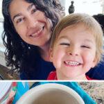 "photo collage of mug with instant coffee alternative in the bottom and a woman and a small boy smiling together. Text overlay says: ""10 Natural Ways To Look Younger (embrace your God-given beauty!)"""