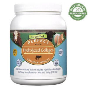 screenshot of a certified glyphosate-free collagen powder from Perfect Supplements